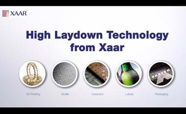 Xaar's High Laydown Technology
