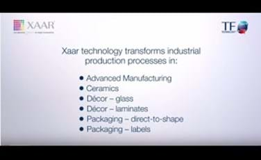 Xaar technology in applications